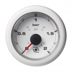 VDO Marine 2-1-16- -52MM- OceanLink Boost Pressure Gauge w-Numerical Reading - White Dial Bezel