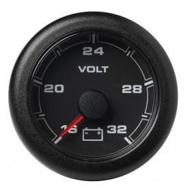 VDO Marine 2-1-16- -52MM- OceanLink Battery Voltage Gauge -16 to 32V- Black Dial Bezel