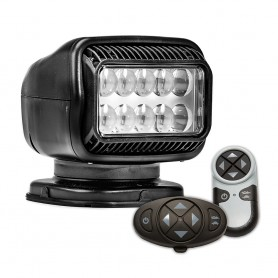 Golight Radioray GT Series Permanent Mount - Black LED - Wireless Handheld Wireless Dash Mount Remotes