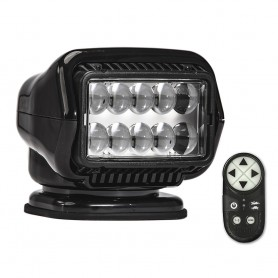 Golight Stryker ST Series Permanent Mount Black LED w-Wireless Handheld Remote