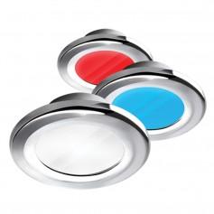 i2Systems Apeiron A3120 Screw Mount Light - Red- Warm White Blue - Chrome Finish