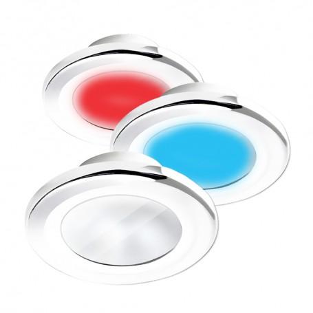 i2Systems Apeiron A3120 Screw Mount Light - Red- Warm White Blue - White Finish