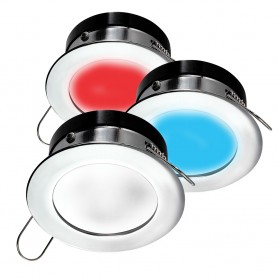 i2Systems Apeiron A1120 Spring Mount Light - Round - Red- Cool White Blue - Polished Chrome