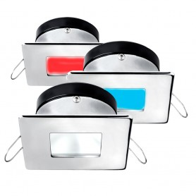 i2Systems Apeiron A1120 Spring Mount Light - Square-Square - Red- Cool White Blue - Brushed Nickel