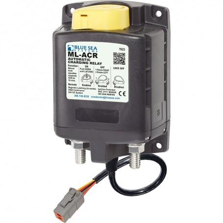 Blue Sea 7623100 ML ACR Charging Relay 24V 500A w-Manual Control Deutsch Connector