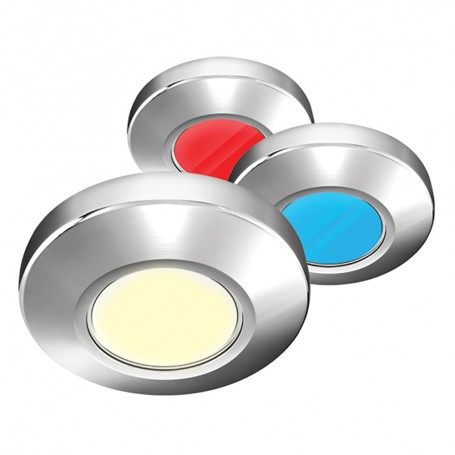 i2Systems Profile P1120 Tri-Light Surface Light - Red- Warm White Blue - Chrome Finish
