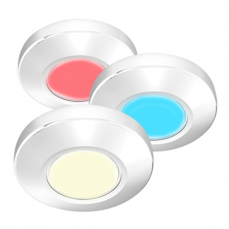 i2Systems Profile P1120 Tri-Light Surface Light - Red- Warm White Blue - White Finish