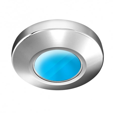 i2Systems Profile P1100 1-5W Surface Mount Light - Blue - Brushed Nickel Finish