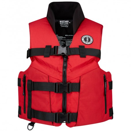 Mustang Accel 100 Fishing Vest - Small - Red-Black