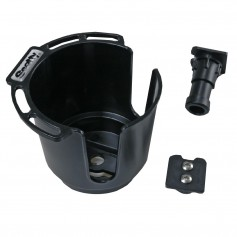 Scotty 311 Drink Holder w-Bulkhead-Gunnel Mount - Rod Holder Post Mount - Black
