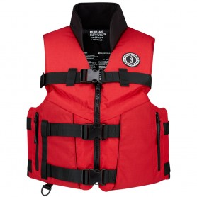 Mustang Accel 100 Fishing Vest - Large - Red-Black