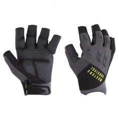 Mustang EP 3250 Open Finger Gloves - Small - Grey-Black
