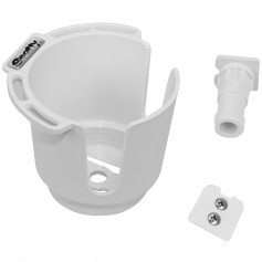 Scotty 311 Drink Holder w-Bulkhead-Gunnel Mount - Rod Holder Post Mount - White