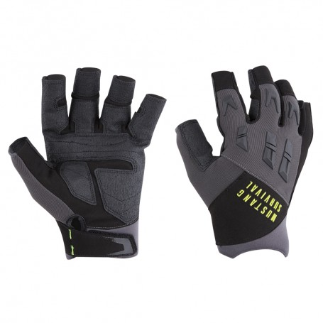 Mustang EP 3250 Open Finger Gloves - Large - Grey-Black
