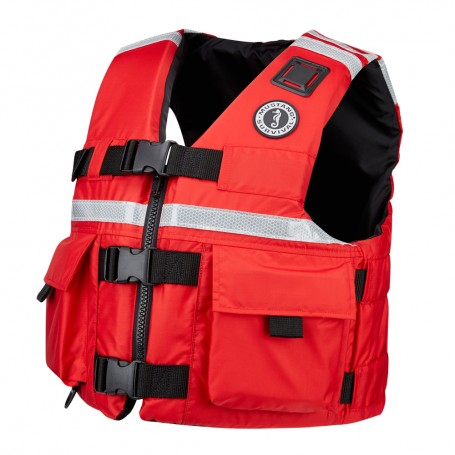 Mustang SAR Vest w-SOLAS Reflective Tape - Large - Red