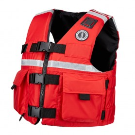 Mustang SAR Vest with SOLAS Reflective Tape - XXX-Large - Red