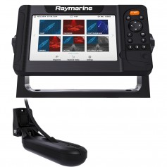 Raymarine Element 7 HV Combo w-HV-100 Transducer LNC2 Chart w-Fishing Hot Spots