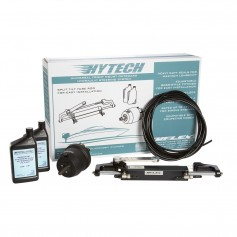 UFlex HYTECH 1-0 Front Mount OB Steering System f-Up to 150HP w-UP20 F Helm- UC94-OBF- 40- Nylon Tubing- 2 Quarts Oil