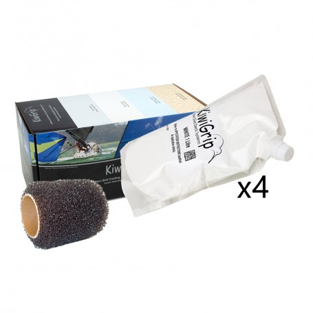 KiwiGrip 4 - 1 Liter Pouches - White w-4- Roller