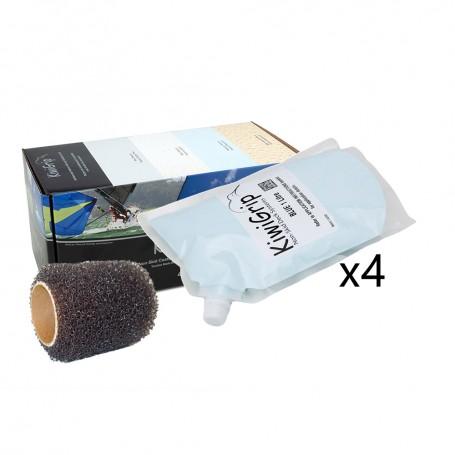 KiwiGrip 4 - 1 Liter Pouches - Blue w-4- Roller