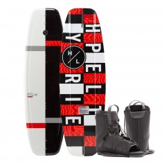 Hyperlite Motive Wakeboard 134 cm w-Frequency Boot - 2020 Edition - Black-Red