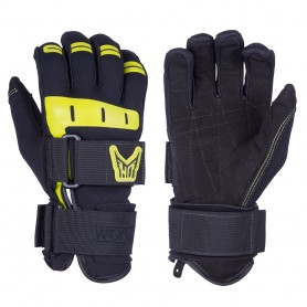 HO Sports Wakeboard Mens World Cup Gloves - Black-Yellow - X-Large