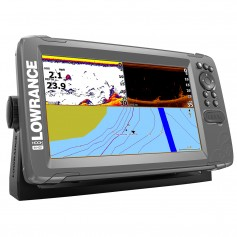 Lowrance HOOK-9 9- Chartplotter-Fishfinder SplitShot Transom Mount Transducer w-Nav- Chart