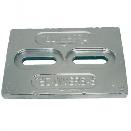 Tecnoseal Mini Zinc Plate Anode 6- x 4- x 1-2-
