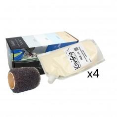 KiwiGrip 4 - 1 Liter Pouches - Cream w-4- Roller