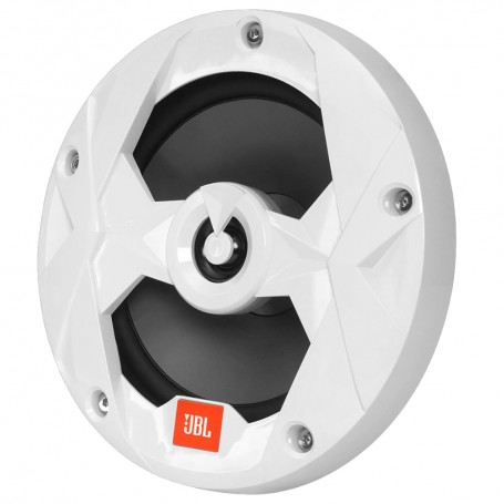 JBL MS8W 8- 450W Coaxial Marine Speaker Non-Illuminated White Grill - Pair - Club Series