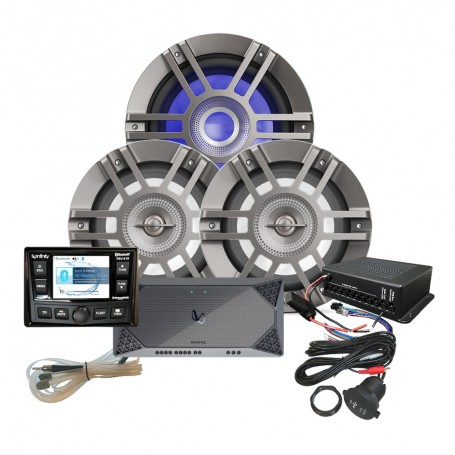Infinity KAPPAMPK415 Package w-PRV415 Stereo- Amp- Speaker- Subwoofer- RGB Control- USB Extender RGB Control