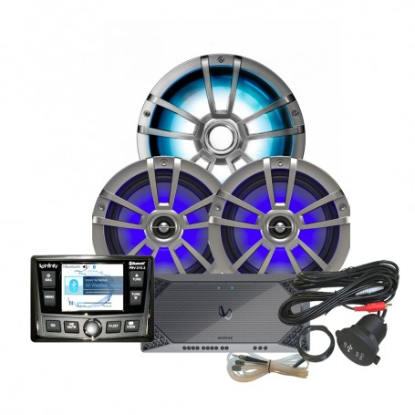 Infinity REFM315-2 Package w-Stereo- Amplifier- Speaker- Subwoofer- RGB Control- USB Extender RGB Control