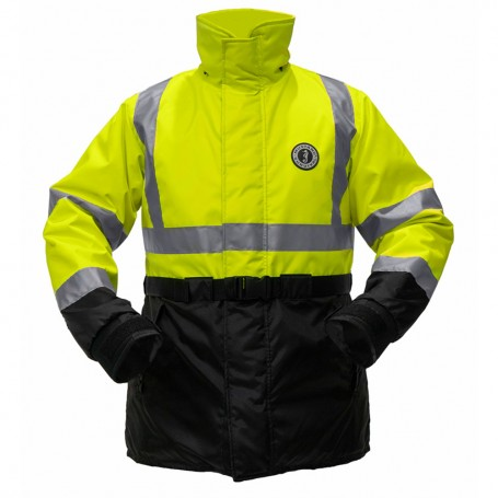 Mustang High Visibility Flotation Coat - Fluorescent Yellow-Green - Small