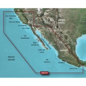 Garmin BlueChart g2 HD - HXUS021R - California - Mexico - microSD-SD