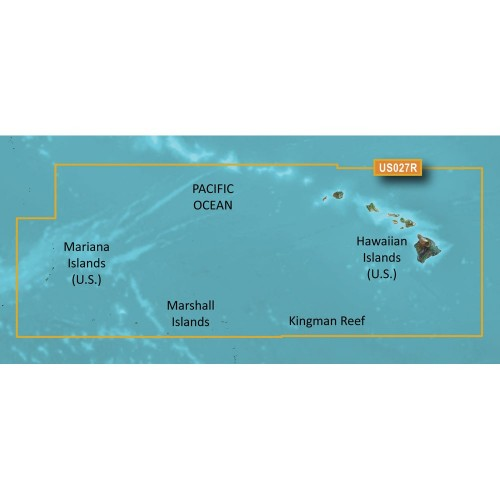 Garmin BlueChart g3 HD - HXUS027R - Hawaiian Islands - Mariana Islands - microSD-SD
