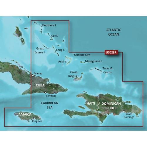 Garmin BlueChart g2 HD - HXUS029R - Southern Bahamas - microSD-SD