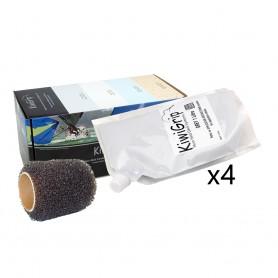 KiwiGrip 4 - 1 Liter Pouches - Grey w-4- Roller