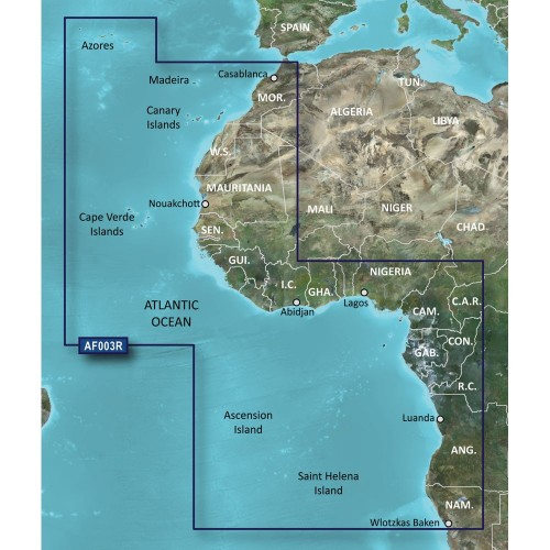Garmin BlueChart g2 HD - HXAF003R - Western Africa - microSD-SD