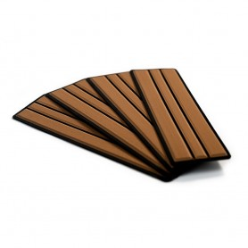 SeaDek Brushed 6mm 4-Piece Step Kit - 3-75- x 12-75- - Mocha-Black Faux Teak