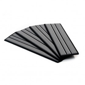SeaDek Brushed 6mm 4-Piece Step Kit - 3-75- x 12-75- - Storm Gray-Black Faux Teak