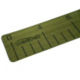 SeaDek 4- x 36- 3mm Fish Ruler w-Laser SD Logo - Olive Green
