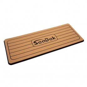 SeaDek Faux Teak Helm Station Pad - 16- x 39- 13mm - Large - Faux Teak w-Black Laser SD Logo