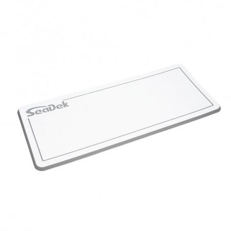 SeaDek Dual Density Helm Pad - 14- x 36- 20mm - Small - White w-Storm Gray Laser SD Logo