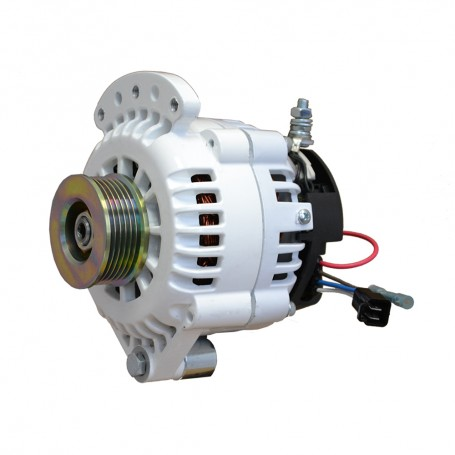 Balmar Alternator 120 Amp 12V 1-2- Single Foot Single K6 Pulley w-Isolated Grounding