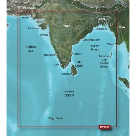 Garmin BlueChart g2 HD - HXAW003R - Indian Subcontinent - microSD-SD