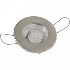 Sea-Dog LED Overhead Light - Brushed Finish - 60 Lumens - Clear Lens - Stamped 304 Stainless Steel