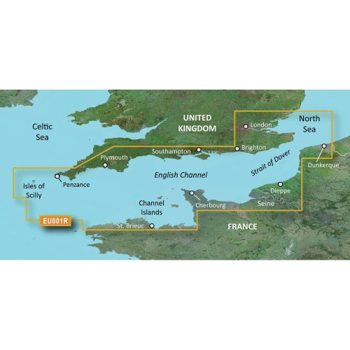Garmin BlueChart g3 HD - HXEU001R - English Channel - microSD-SD