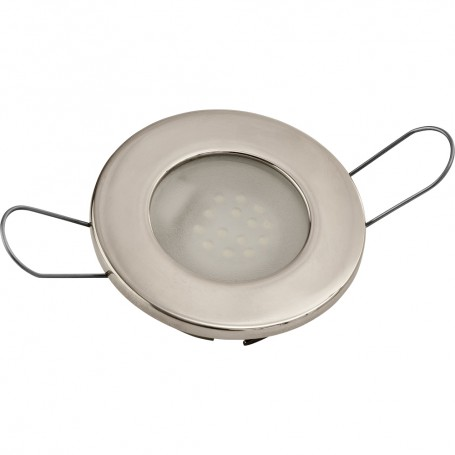 Sea-Dog LED Overhead Light - Brushed Finish - 60 Lumens - Frosted Lens - Stamped 304 Stainless Steel
