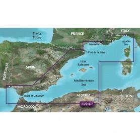 Garmin BlueChart g3 HD - HXEU010R - Spain Mediterranean Coast - microSD-SD