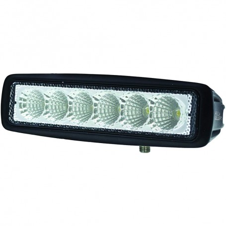 Hella Marine Value Fit Mini 6 LED Flood Light Bar - Black